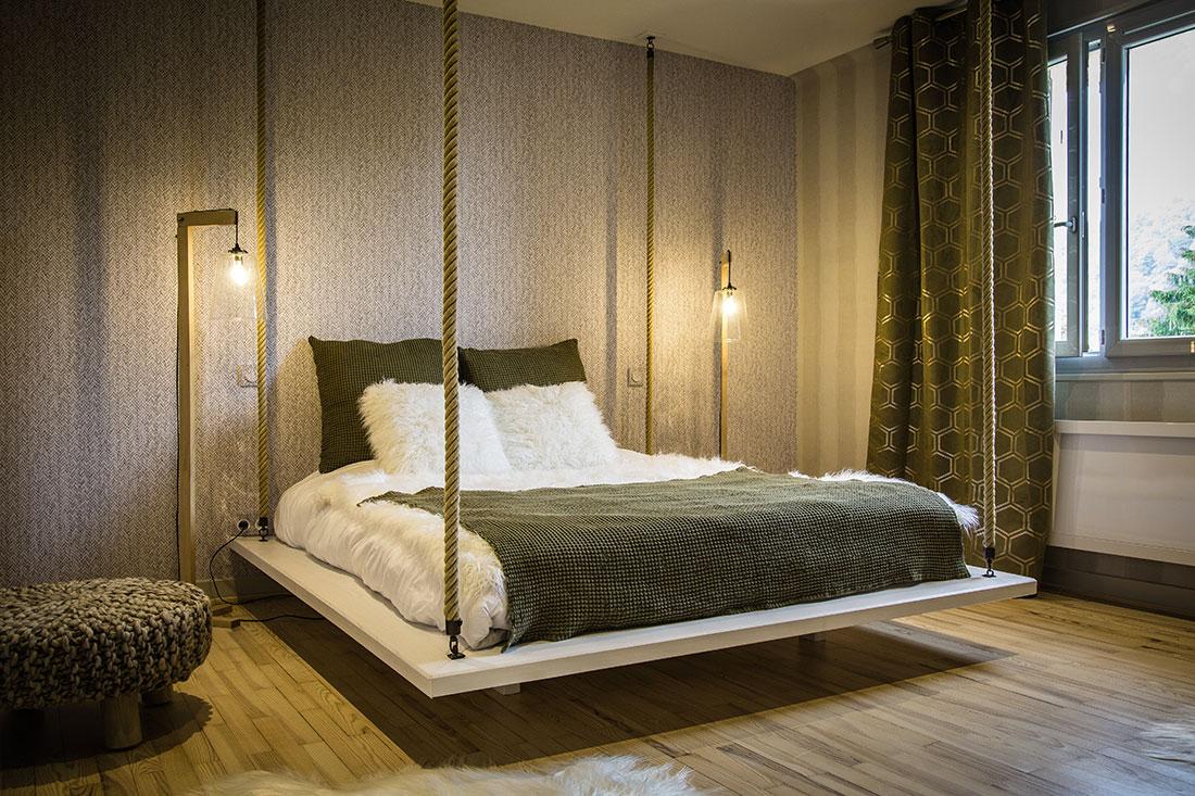 Chambre des grands du chalet bois Jura